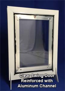 Clear Swing Door with Reinforced Channel